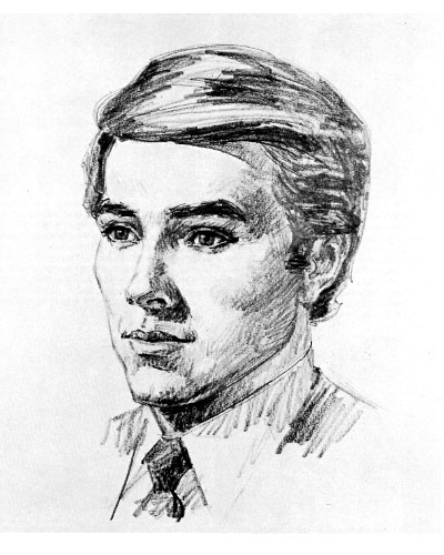 Рисуем мужской портрет