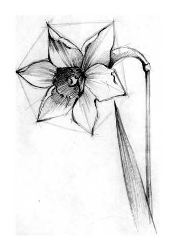 Синий декоративный цветок