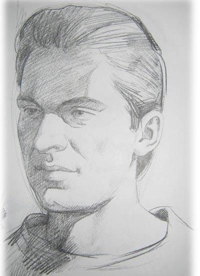 Поэтапное рисование портрета мужчины