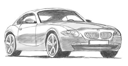 Как научится рисовать машины карандашом?