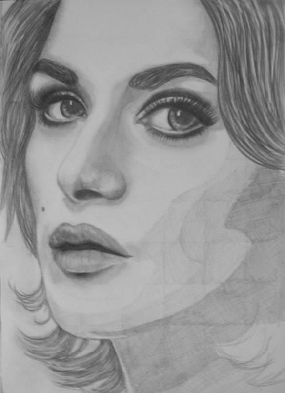 Рисуем портрет Рейчел Вайс