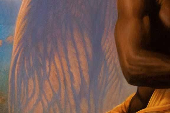 """Утро"". Демо техники живописи маслом поверх гуаши"