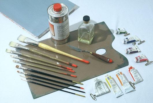 Материалы для масляной живописи. Краски.