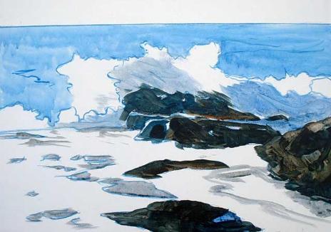 Морской прибой. Беспрерывная живопись от Д.Пурдон