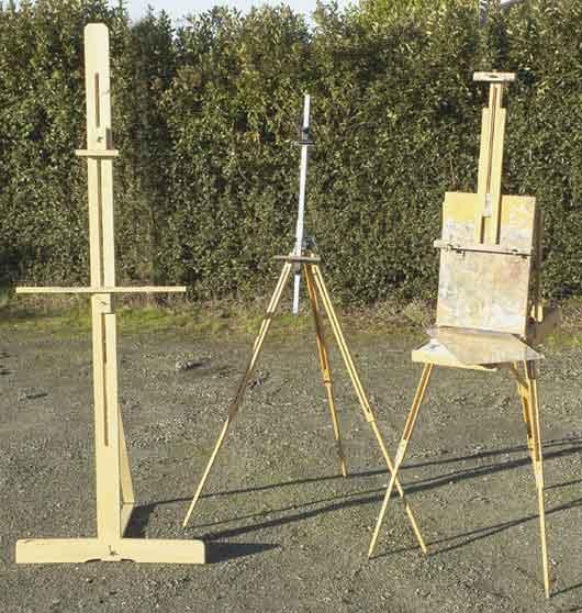 Материалы для масляной живописи. Мольберт. Лак.