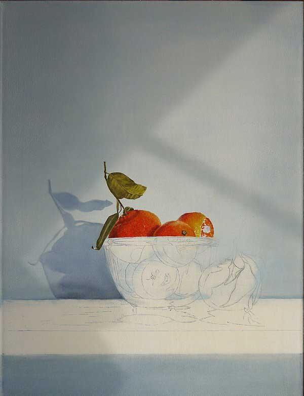 Рисуем мандаринки маслом