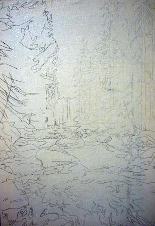 урок рисования маслом - Североуральск (шаг 1)