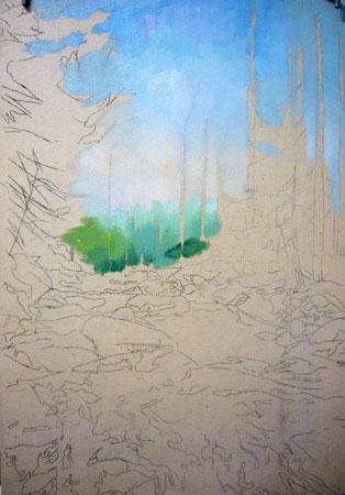 урок рисования маслом - Североуральск (шаг 2)