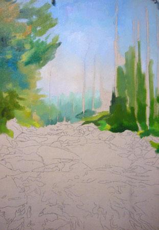 урок рисования маслом - Североуральск (шаг 3)