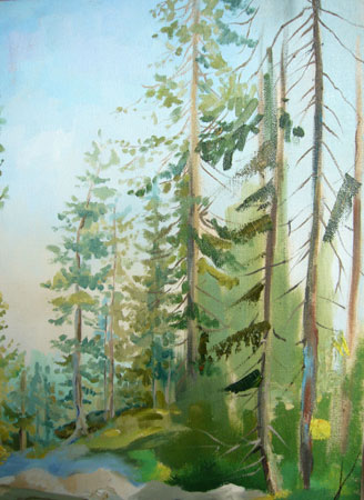 урок рисования маслом - Североуральск (шаг 10)