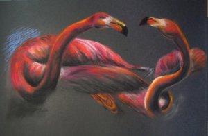 Фламинго пастелью