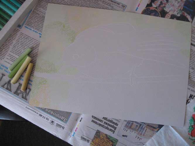 Рисуем синицу